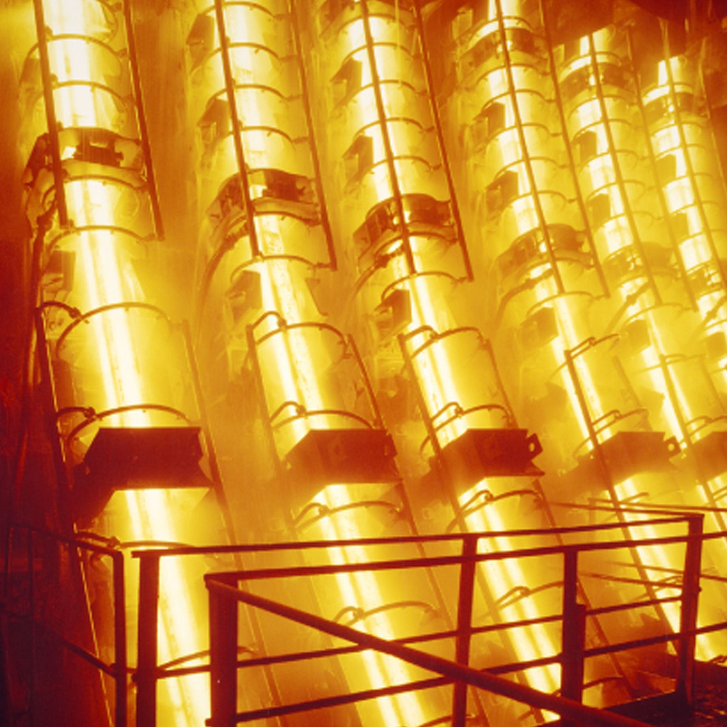 Hot metal at a steel mill