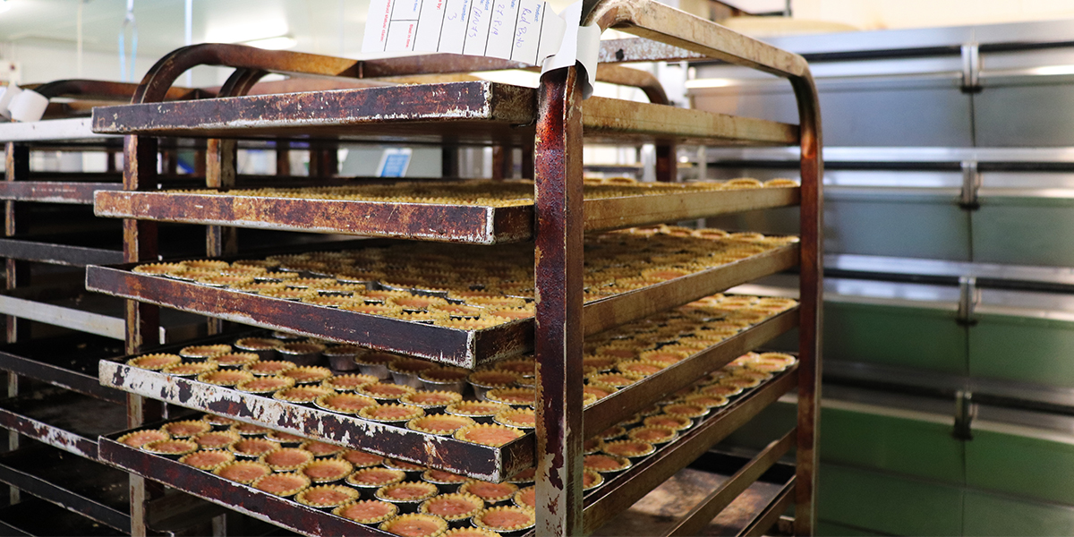 Trays of baked goods