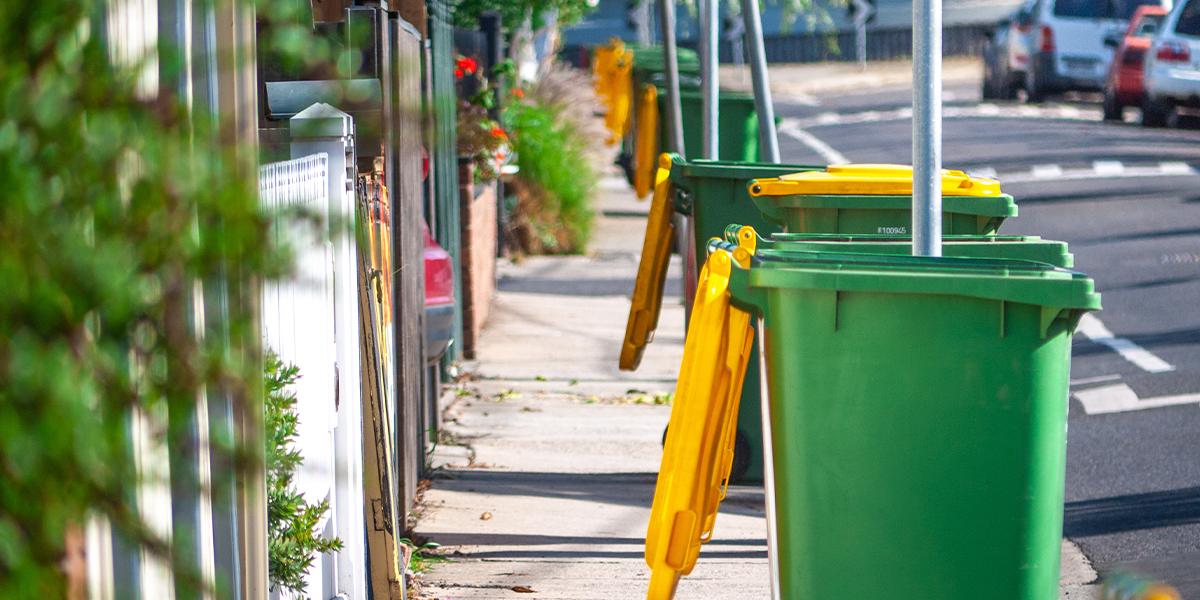 Row of bins