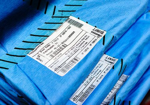 Asset tracking label on medical equipment
