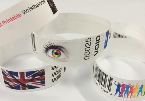 Laser printable wristbands