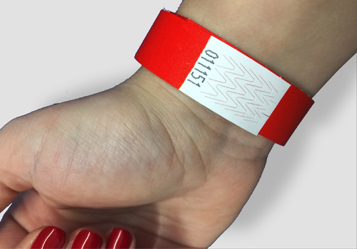 Plain tyvek wristband