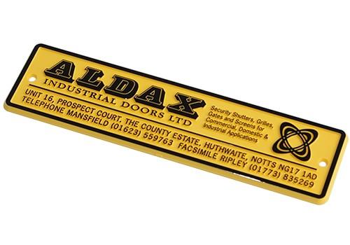 Custom Relief Moulded Signage for Industrial Door Manufacturer