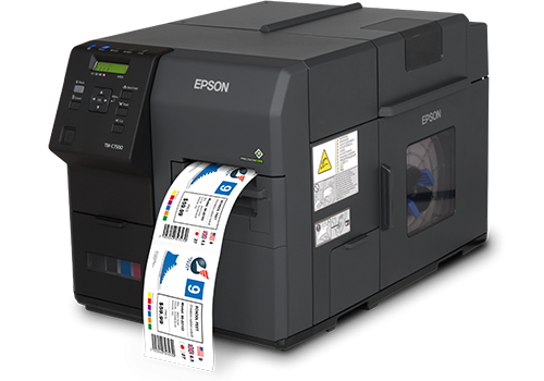 C7500 full colour inkjet printer with label