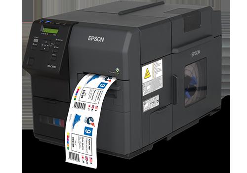 C7500 full colour inkjet printer with label