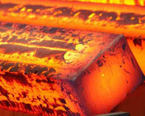 Hot piece of processed steel