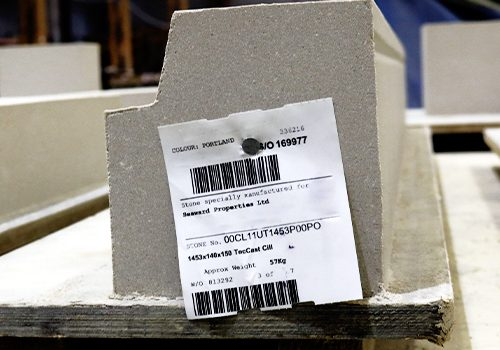 Industrial strength tag identifying stone