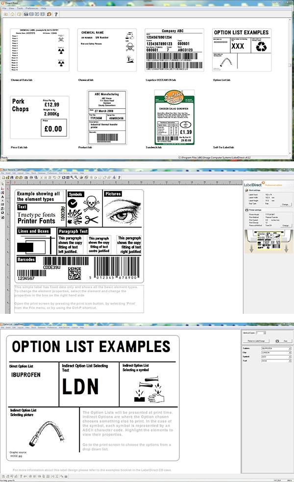 LabelDirect Software Screenshots