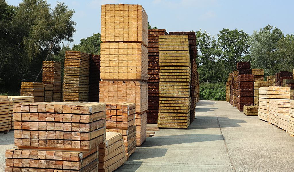 Timber ready for dispatch