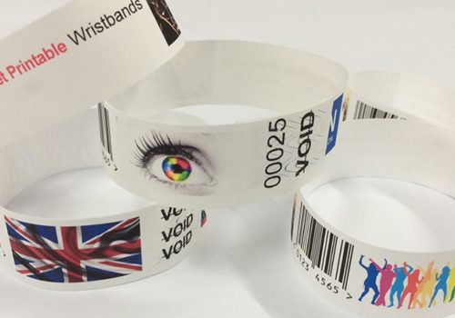 Laser printable wristbands