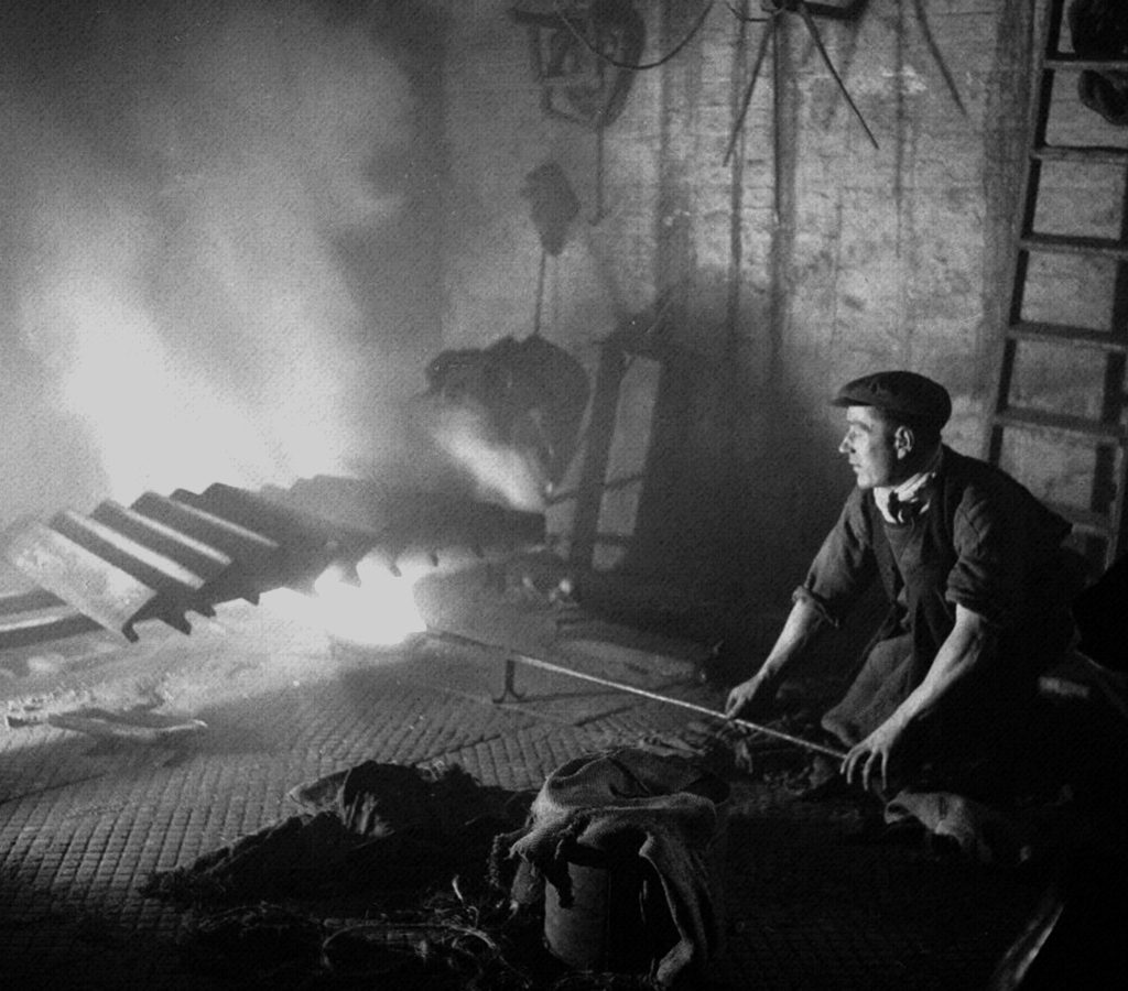 Operator at a Sheffield Steel Mill
