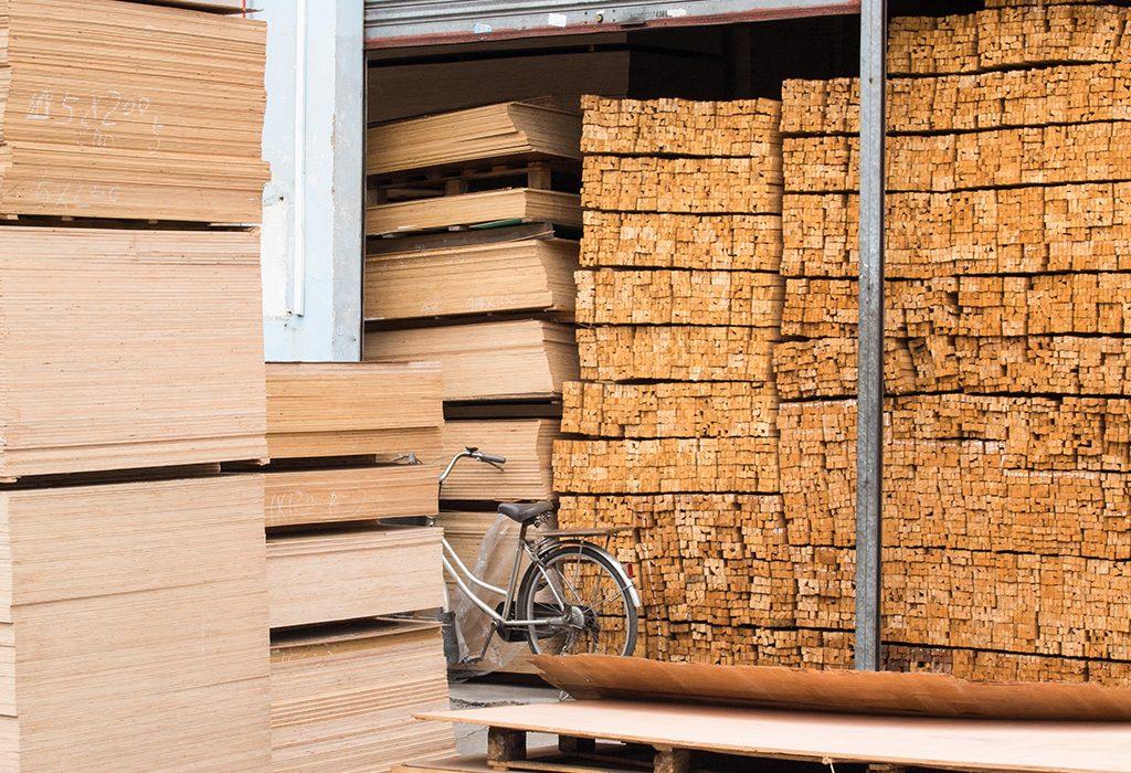 Timber warehousing