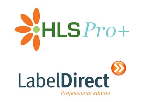 HLS Pro and Label Direct Software Logos